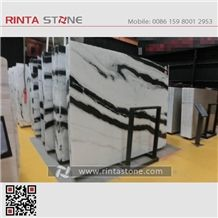 Panda White Marble China with Black Vein Landscape Paintings Sonal Asia Equator Milk Zebra Marmara Xiongmao Slabs Tiles