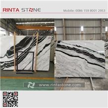 Xiongmao White Marble China with Black Vein Landscape Paintings Sonal Asia Equator Milk Zebra Marmara Panda Slabs Green Tiles