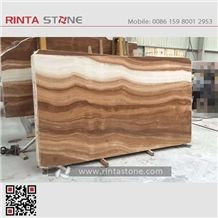 Yellow Wooden Marble Straight Vein Zebra Wood Imperial Grain Yoal Coffee Brown Golden Gold Beige Slabs Tiles