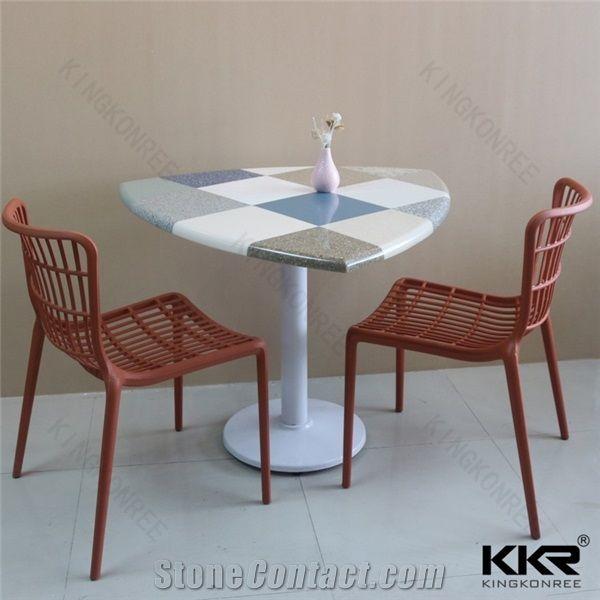 Kkr Customized Corian Linen 8 Chairs Dinner Home Furniture