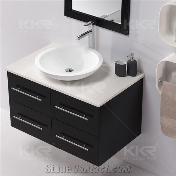 Kkr Factory Made Hotel Furniture Indoor Bathroom Items Hair Salon Double  Sink Vanity Barber Hand Wash Basins