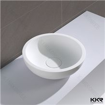 Kkr Factory Made Hotel Vanity Shampoo Furniture Custom Size Sanitary Ware Indoor Bathroom Sink White Hand Wash Basins