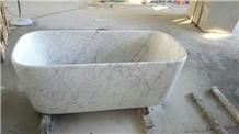 Bianco Carrara White Marble Bathtub,Marble Bathtub