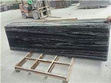 Black Ash Granite Tile,Snow Flake Granite Wall Cladding, Black Granite Precats Tiles
