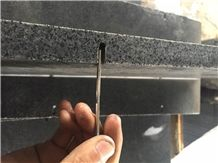 China Padang Dark Granite G654 Walling Tiles with Hole,Dark Grey Granite G654 Precast Tile, China Granite G654 Flamed with Holes for Wall Cladding