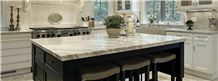 Rosa Coral Marble Island Top, Engineered Stone Perimeter Kitchen Countertop