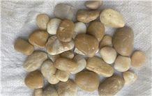Wood Grain Yellow Pebble Stone