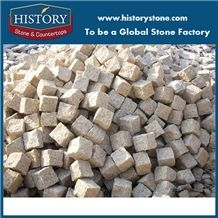 China Cheap G682 Granite Cube Construction Material Pineapple Paving Stone,Golden Granite Pavers, Cobble Flooring,Cube Stone,