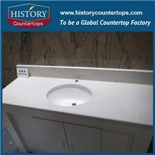 High Quality White Quartz Countertop, China Artificial Stone Countertops,Quartz Cut to Size Countertop,Quartz Bath Top