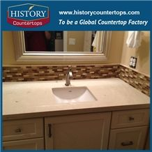 New Style Own Factory High Quality Cheapest Polished Countertops Buttermilk with Customized Edges, Solid Surface Bathroom Tops, Custom Vanity Tops