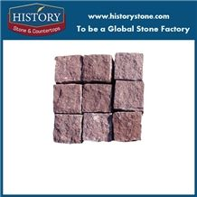 Ocean Red Granite Outside Paving Stone Interlocking Paving Sets Cube Stone/Driveway Paving Stone/Garden Stepping Pavements