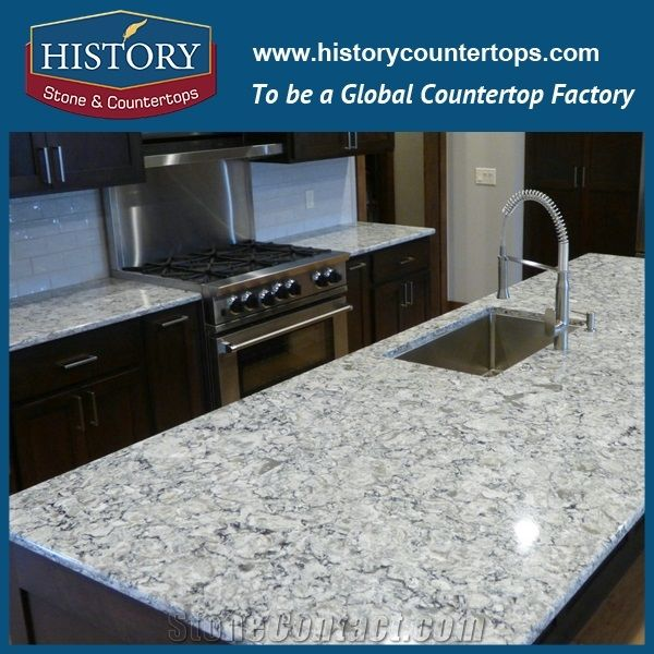 Quartz Stone Kitchen Countertops Engineered Stone Table Tops