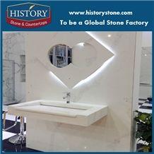 Wholesale White Quartz Vanity Tops, Bathroom Vanity Tops,Quartz Stone Vanity Tops,Engineered Stone Bath Tops,Custom Vantity Tops with Cabinet