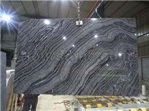 Silver Wave Marble, Skirting,Zebra Black,Wall Covering Marble Slabs, Marble Opus Pattern, Floor Covering, Antique Serpenggiante,Black Wooden Marble
