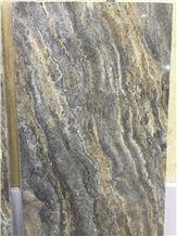 Titanium Silver /Silver Brown Cloud Travertine Tiles&Slabs
