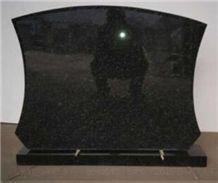 A Grade Natural Black Granite Customized Headstone