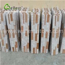 Elegant Yellow & White Culture Ledge Stone for Wall Covering Siding