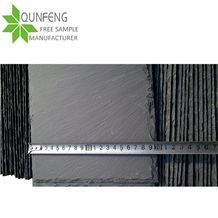 China Factory Direct 40*20cm Natural Rectangle Black Slate Roof Tiles