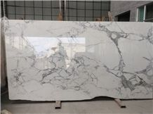 Statuario Marble Tiles White Marble Slabs with Grey Veins White Marble