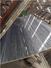 Hematite Dark Grey Black White Wood Vein Black Wooden Marble Slab