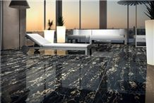 Italy Marmo Nero Portoro Vena Fine Marble Marble Price