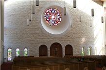White Sonoma Alta Ledge Stone Church Wall