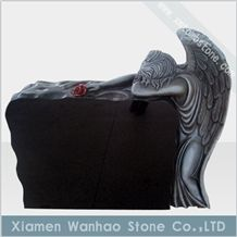China Black Granite Tombstone&Monument,Angel Memoials