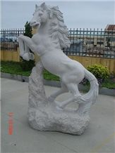 China Factory Animal Sculptures Life Size Stone Carvings