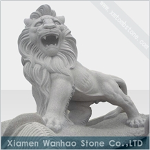 China Granite Lion Sculptures Hand Carved Carvings