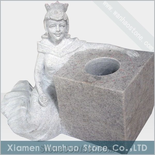 China Granite Tombstoneengrave Angel Monument Funeral Angel Vases