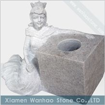 China Granite Tombstone,Engrave Angel Monument Funeral Angel Vases