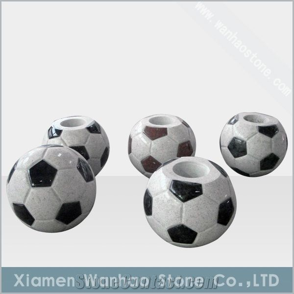 China Granite Tombstonemonument Funeral Football Vases Xiamen
