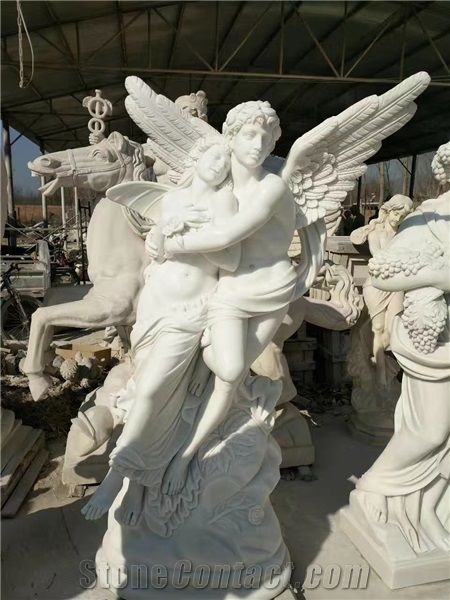 China Hunan White Marble Sculptures Garden Statues