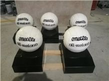 China Marble Sculptures Football Handicrafts Stone Carvings