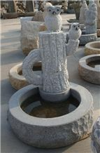 Chinese Granite Fountains Garden Stone Carvings Handmade Sculptures