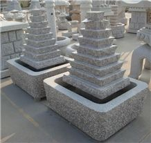 Chinese Granite Garden Fountains Stone Carvings Life Size Sculptures