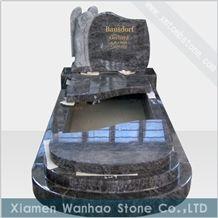 Granite Bahama Blue Tombstone Engraved Monument Angel Memorials