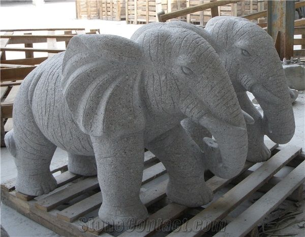 Granite Elephant Sculptures Garden Carvings Landscaping Decoration   Xiamen  Wanhao Stone Co.,Ltd