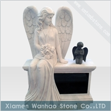 Marble Angel Tombstone &Monument,Bench Memorial
