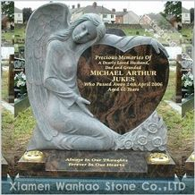 Polished Granite Tombstone,Engraved Monument,Angel Memorials