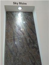 Sky Moire Marble Tiles & Slabs
