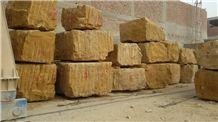 Golden Sinai Marble Blocks, Egypt Yellow Marble