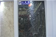 Trump Black Marble Tiles, Slabs