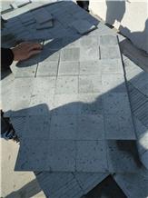 China Green Stone Pool Paving Tiles 10x10x1cm