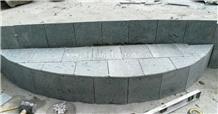 China Peacock Green Stone Tiles for Pool Paving