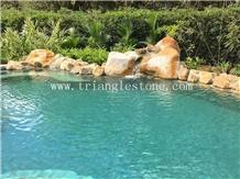 Natural Green Stone Pool Paving Tiles