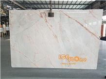 Chinese China White Beauty Ice Age Marble Tiles & Slabs Stone Floor