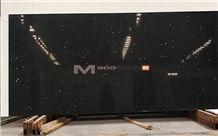 Engineered Sparkle Black Quartz Stone Slab for Solid Surface