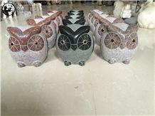 G654,G682,G623,G603,Colorful Granite Owl Artifacts,Handicraft