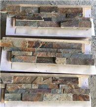 Gold Rusty Rough Wall Deco Cladd Stone Veneers Cultured Stone Stack Z